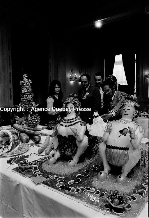 concours culinaire de desserts 13 Mars 1973<br /> PHOTO :   Agence Quebec Presse - Alain Renaud