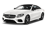 2017 Mercedes Benz E Class AMG Line 2 Door Coupe angular front stock photos of front three quarter view