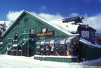 AJ5972, mall, Killington ski resort, store, winter, Killington Mall Shopping Center in the snow in Killington in Rutland County in the state of Vermont.