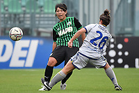 Mana Mihashi of Sassuolo and Giulia Mancuso of Hellas Veronacompete for the ball during the women Serie A football match between US Sassuolo and Hellas Verona at Enzo Ricci stadium in Sassuolo (Italy), November 15th, 2020. Photo Andrea Staccioli / Insidefoto