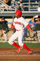 August 28th, 2007:  Justin Roberson of the Batavia Muckdogs, Short-Season Class-A affiliate of the St. Louis Cardinals at Dwyer Stadium in Batavia, NY.  Photo by:  Mike Janes/Four Seam Images