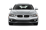 Car photography straight front view of a 2018 BMW 3-Series 320i 4 Door Sedan Front View