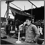 Yuan Fengxiang is denounced as a rich peasant by a local woman, Chen Xiuhua. Ashihe commune, Acheng county, 12 May 1965
