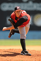 Joe Serafin Pitcher Kannapolis Intimidators (White Sox) May 23, 2010 Photo By Tony Farlow/Four Seam Images..