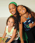 Wynna MacLaren with her daughters Phaedra,6, and Piper,3, at the MD Anderson Back to School Fashion Show at The Galleria Saturday August 17, 2013.(Dave Rossman photo)
