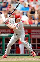 11 June 2006: David Bell, third baseman for the Philadelphia Phillies, at bat during a game against the Washington Nationals at RFK Stadium, in Washington, DC. The Nationals shut out the visiting Phillies 6-0 to take the series three games to one...Mandatory Photo Credit: Ed Wolfstein Photo..