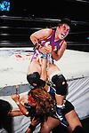 Shinobu Kandori, Bull Nakano,<br /> JULY 14, 1994 - Pro-Wrestling : LLPW Lady's Legend Pro-Wrestling event in Japan.<br /> (Photo by Yukio Hiraku/AFLO)