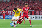 Jiangsu FC Defender Li Ang (L) fights for the ball with Shanghai FC Forward Oscar Emboaba Junior (R) during the AFC Champions League 2017 Round of 16 match between Shanghai SIPG FC (CHN) vs Jiangsu FC (CHN) at the Shanghai Stadium on 24 May 2017 in Shanghai, China. Photo by Marcio Rodrigo Machado / Power Sport Images