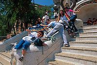 Spanien, Katalonien, Barcelona Parc Guell von Antoni Gaudi, Unesco-Weltkulturerbe