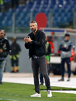 Europa League quarter-final 1st leg <br /> S.S. Lazio - FC Salzburg  Olympic Stadium Rome, April 5, 2018.<br /> Salzburg's coach Marco Rose claps hands during the Europa League match between Lazio and Salzburg at Rome's Olympic stadium, April 5, 2018.<br /> UPDATE IMAGES PRESS/Isabella Bonotto