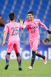 Forward Pedro Junior (R) celebrating his score during the AFC Champions League 2017 Group E match between Ulsan Hyundai FC (KOR) vs Kashima Antlers (JPN) at the Ulsan Munsu Football Stadium on 26 April 2017, in Ulsan, South Korea. Photo by Yu Chun Christopher Wong / Power Sport Images
