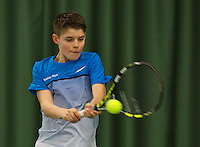 Rotterdam, The Netherlands, March 19, 2016,  TV Victoria, NOJK 14/18 years, Jens Hoogendam (NED)<br /> Photo: Tennisimages/Henk Koster
