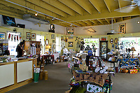 Gift shop. Interior photo of one of the many unique arts and crafts stores catering to shoppers visiting the Northshore Marketplace. Located in the town of Haleiwa on oahu's north shore.