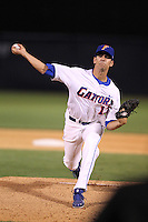 """Florida Gators Tommy Toledo #13 during a game vs. the Florida State Seminoles in the """"Florida Four"""" at George M. Steinbrenner Field in Tampa, Florida;  March 1, 2011.  Florida State defeated Florida 5-3.  Photo By Mike Janes/Four Seam Images"""