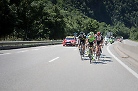 Simon Clarke (AUS/Cannondale-Drapac) leading the breakaway group<br /> <br /> stage 7: Aoste > Alpe d'Huez (168km)<br /> 69th Critérium du Dauphiné 2017
