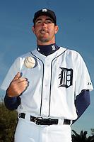 Feb 21, 2009; Lakeland, FL, USA; The Detroit Tigers pitcher Justin Verlander (35) during photoday at Tigertown. Mandatory Credit: Tomasso De Rosa/ Four Seam Images