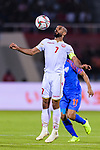 Abdulwahab Ali Alsafi of Bahrain (L) in action during the AFC Asian Cup UAE 2019 Group A match between India (IND) and Bahrain (BHR) at Sharjah Stadium on 14 January 2019 in Sharjah, United Arab Emirates. Photo by Marcio Rodrigo Machado / Power Sport Images
