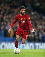 Liverpool's Joe Gomez<br /> <br /> Photographer Rob Newell/CameraSport<br /> <br /> The Emirates FA Cup Fifth Round - Chelsea v Liverpool - Tuesday 3rd March 2020 - Stamford Bridge - London<br />  <br /> World Copyright © 2020 CameraSport. All rights reserved. 43 Linden Ave. Countesthorpe. Leicester. England. LE8 5PG - Tel: +44 (0) 116 277 4147 - admin@camerasport.com - www.camerasport.com