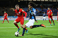 La'Vere Corbin-Ong (FSV Frankfurt) gegen Niklas Thiel (Eintracht Frankfurt)- 10.11.2016: FSV Frankfurt vs. Eintracht Frankfurt, Frankfurter Volksbank Stadion