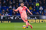 Lionel Messi of FC Barcelona in action during the La Liga 2018-19 match between RDC Espanyol and FC Barcelona at Camp Nou on 08 December 2018 in Barcelona, Spain. Photo by Vicens Gimenez / Power Sport Images