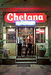 MUMBAI, INDIA - SEPTEMBER 27, 2010:  Chetana vegetarian restaurant famed for its Gujurati Thali plates ( food from the state of Gujurat) nearby to the Taj Mahal Palace and Tower Hotel in Mumbai. The hotel has re-opened after the terror attacks of 2008 destroyed much of the heritage wing. The wing has been renovated and the hotel is once again the shining jewel of Mumbai. pic Graham Crouch