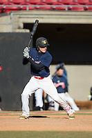 Patrick Jackowski (52) of Hampton High School in Hampton, Virginia playing for the Atlanta Braves scout team at the South Atlantic Border Battle at Doak Field on November 2, 2014.  (Brian Westerholt/Four Seam Images)