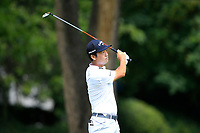 4th September 2020, Atlanta GA, USA;  Kevin Na (r) tees off during the first round of the TOUR Championship  at the East Lake Golf Club in Atlanta, GA.
