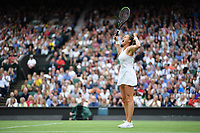 9th July 2021, Wimbledon, SW London, England; Wimbledon Tennis Championships, day 9;  Aryna Sabalenka (Bel)