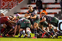 26th September 2020; Toulon, France; European Challenge Cup Rugby, semi-final; RC Toulon versus Leicester Tigers;  Ben Youngs (Leicester) passes along his line
