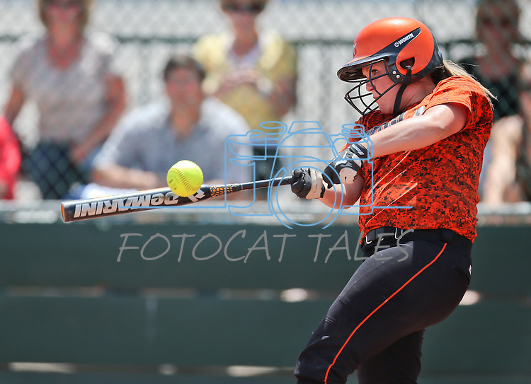 Katie Chieffo and the Douglas Tigers battle the Galena Grizzlies in a first round game of the NIAA northern region softball tournament in Reno, Nev., on Thursday, May 15, 2014. Galena won 5-4.<br /> Photo by Cathleen Allison