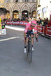 Simon Clarke (AUS) EF Education First rounds the final corner to finish 8th in Siena Strade Bianche 2019 running 184km from Siena to Siena, held over the white gravel roads of Tuscany, Italy. 9th March 2019.<br /> Picture: Seamus Yore   Cyclefile<br /> <br /> <br /> All photos usage must carry mandatory copyright credit (© Cyclefile   Seamus Yore)