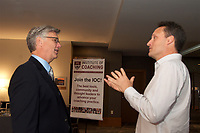 Chip Carter and Gordon Spence at Coaching in Leadership and Healthcare Conference by the Institute of Coaching and Harvard Medical School at the Renaissance Hotel Boston MA October 13 and 14, 2017