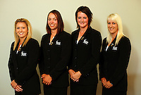NZ women, from left, Lisa Wright, Caroline Bon, Emily Perry and Zoe Brake. Trans-Tasman NZ teams at Royal Wellington Golf Club, Wellington, New Zealand on Sunday, 28 March 2010. Photo: Dave Lintott / lintottphoto.co.nz