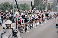 Thomas de Gendt (BEL/Lotto-Soudal) leading the peloton<br /> <br /> 104th Tour de France 2017<br /> Stage 2 - Düsseldorf › Liège (203.5km)