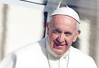 Papa Francesco al termine dell'udienza generale del mercoledi' in Piazza San Pietro, Citta' del Vaticano, 3 febbraio 2016.<br /> Pope Francis leaves at the end of his weekly general audience in St. Peter's Square at the Vatican, 3 February 2016.<br /> UPDATE IMAGES PRESS/Riccardo De Luca<br /> <br /> STRICTLY ONLY FOR EDITORIAL USE