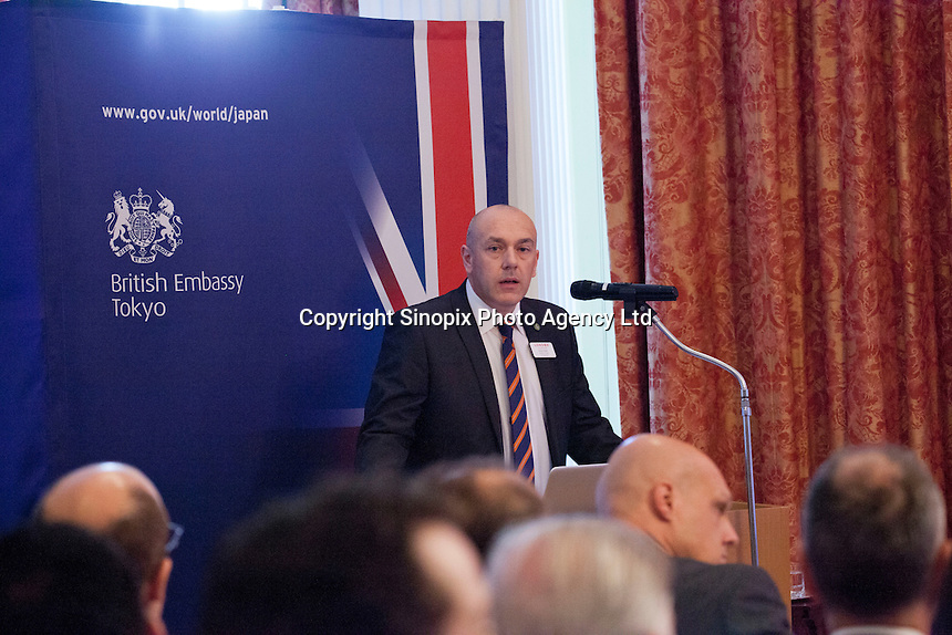 OCTOBER 15, 2015 -TOKYO, JAPAN: David Slater, Director of Trade at an event at the British Embassy in Tokyo, to encourage collaboration between London and Japan in financial technology.  (Photo / Ko Sasaki  )