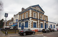 The Bill Nicholson public house on Trulock Road near Tottenham Hotspur Stadium at High Road (White Hart Lane), London, England on 19 March 2019. Photo by Andy Rowland.
