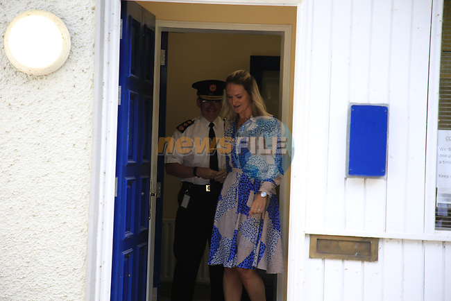 The Minister for Justice, Helen McEntee TD, meet with Garda Commissioner Harris at Slane Garda Station, Slane Co. Meath.<br /> Picture Newsfile