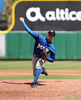 David Morillo participates in the MLB International Showcase at Estadio Quisqeya on February 22-23, 2017 in Santo Domingo, Dominican Republic.