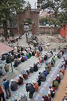 Men Arriving for Friday Prayers,  Madrasa Imdadul Uloom, Dehradun, India.