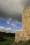Israel, Sharon region. Ottoman fortress Binar Bashi was built in 1571 on Tel Afek, overlooking the source of Yarkon river