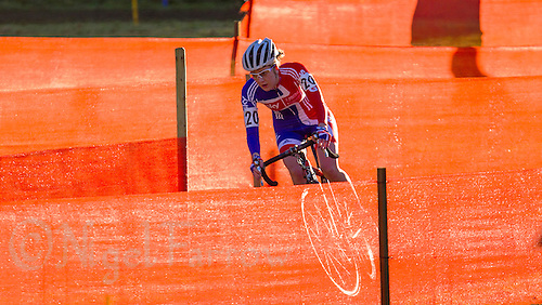 03 NOV 2012 - IPSWICH, GBR - Bethany Crumpton (GBR) of Great Britain makes her way through a zig-zag section of the course during the elite women's European Cyclo-Cross Championships in Chantry Park, Ipswich, Suffolk, Great Britain .(PHOTO (C) 2012 NIGEL FARROW)