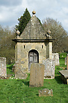 The mausoleum of Henry Streathfield 1706-1762 of High Street House now Chiddingstone Castle in the church yard of St Mary the Virgin church Chiddingstone Kent UK. One of the earliest mausoleums built in the UK.