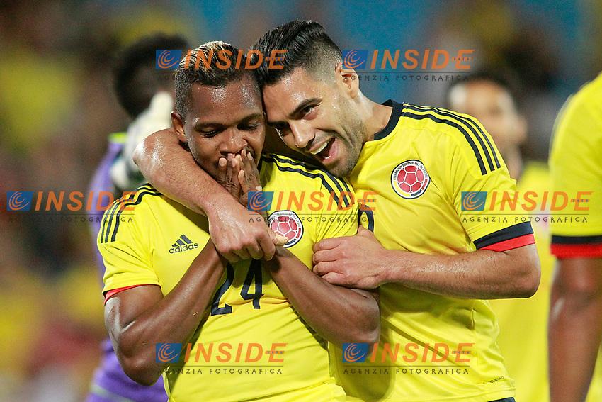 Colombia's Jose Heriberto Izquierdo (l) and Radamel Falcao celebrate goal during international friendly match. June 13,2017.(ALTERPHOTOS/Acero/Insidefoto)<br /> Camerun - Colombia <br /> Foto Acero/Alterphotos/Insidefoto <br /> ITALY ONLY