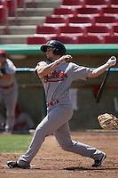 Chris Owings #2 of the Visalia Rawhide bats against the High Desert Mavericks at Stater Bros. Stadium on May 16, 2012 in Adelanto,California. (Larry Goren/Four Seam Images)