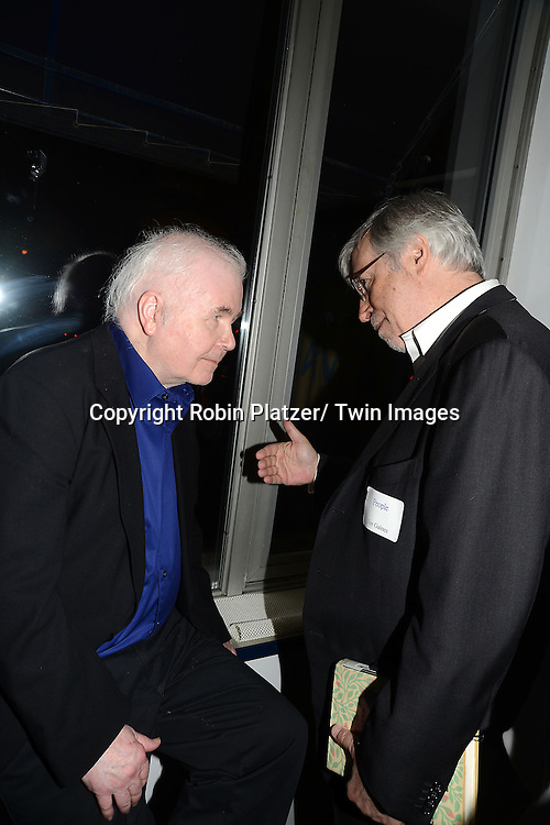 Ross Drake and Jim Gaines at the  People Magazine Employees Reunion on April 26, 2013 at Burger Heaven at 804  Lexington Avenue in New York City.