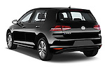 Car pictures of rear three quarter view of a 2015 Volkswagen GOLF e-Golf 5 Door Hatchback 2WD Angular Rear
