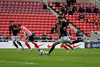 22nd May 2021; Stadium of Light, Sunderland, Tyne and Wear, England; English Football League, Playoff, Sunderland versus Lincoln City; Jorge Grant of Lincoln City, takes but misses a penalty in the 2nd half