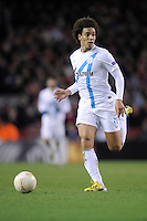 21.02.2013 Liverpool, England. Axel Witsel of Zenit St Petersburgin action during the Europa League game between Liverpool and Zenit St Petersburg from Anfield.