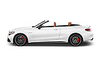Car driver side profile view of a 2017 Mercedes Benz C Class AMG 63 S 2 Door Convertible
